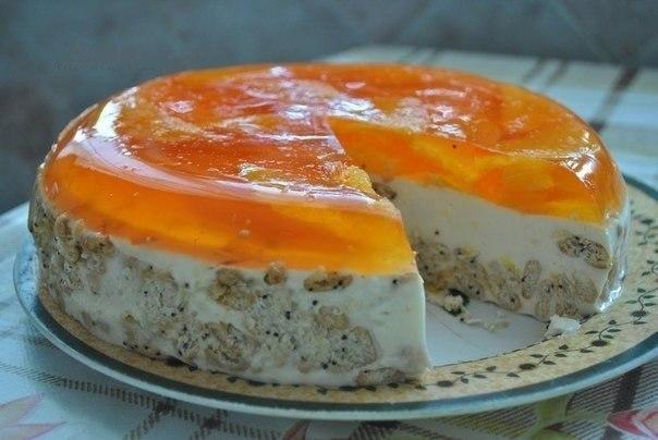 Апельсиновый тортик без выпечки — просто, вкусно и красиво