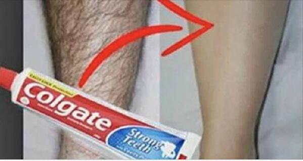 Зубная паста поможет удалить нежелательные волосы