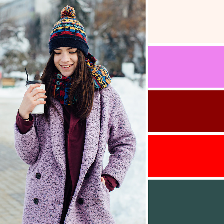 10 цветовых сочетаний, которые помогут правильно комбинировать зимний гардероб