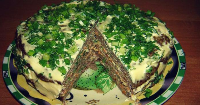 Печеночный торт. Правильный рецепт