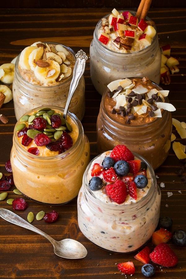 Пять ночных рецептов завтрака из овсянки