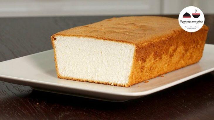 Чудо бисквит! Невероятно нежный Бисквит на белках
