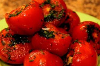 Малосольные помидоры с чесноком в пакете. Готовы всего через пару суток