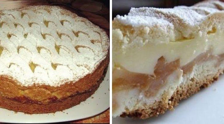 Великолепный яблочный пирог с нежным кремом