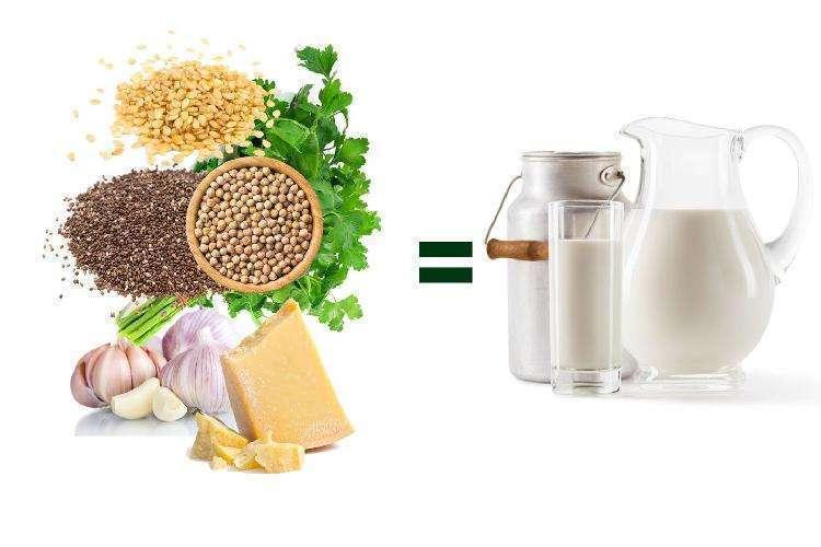 10 продуктов, в которых кальция больше, чем в молоке